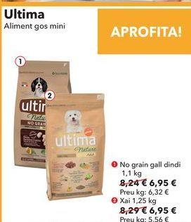 Oferta de Ultima Alimento perro mini  por 6,95€