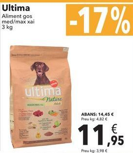 Oferta de Ultima alimento perro med/max cordero  por 11,95€