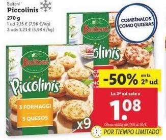 Oferta de Piccolinis Buitoni por 2,15€