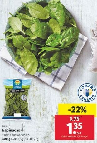 Oferta de Espinacas edulis por 1,35€