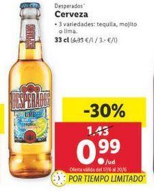 Oferta de Cerveza Desperados por 0,99€