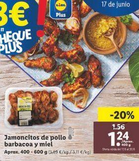Oferta de Jamoncitos de pollo por 1,24€