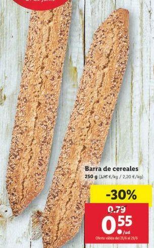 Oferta de Pan de cereales por 0,55€