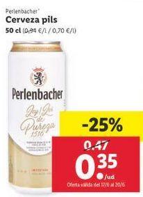Oferta de Cerveza Perlenbacher por 0,35€