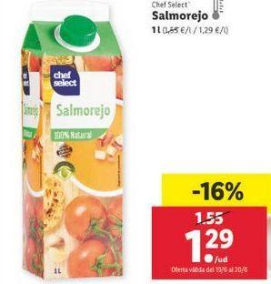 Oferta de Salmorejo chef select por 1,29€