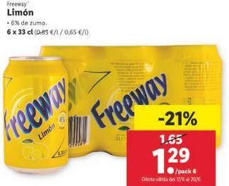 Oferta de Refrescos Freeway por 1,29€