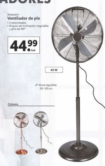 Oferta de Ventilador de pie SilverCrest por 44,99€