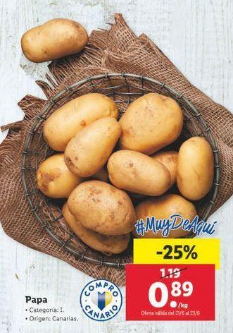 Oferta de Patatas por 0,89€