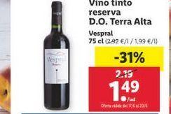 Oferta de Vino tinto Vespral por 1,49€