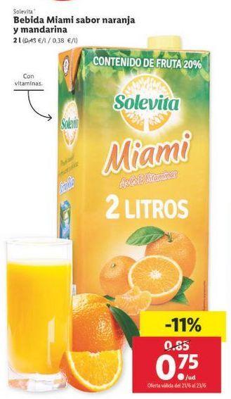 Oferta de Bebidas solevita por 0,75€
