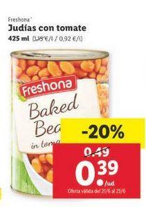 Oferta de Judías Freshona por 0,39€