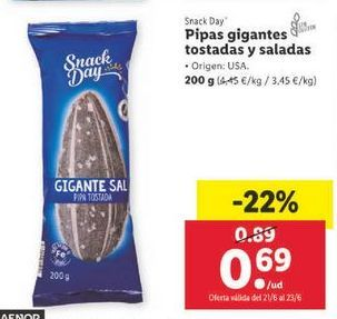 Oferta de Pipas Snack Day por 0,69€