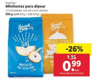 Oferta de Snacks Snack Day por 0,99€