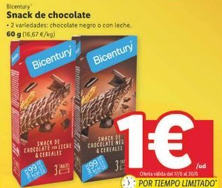 Oferta de Snacks Bicentury por 1€