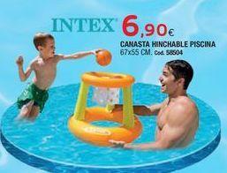 Oferta de Canasta flotante Intex por 6,9€