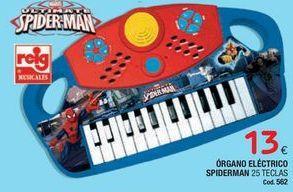 Oferta de Órgano eléctrico Spiderman por 13€