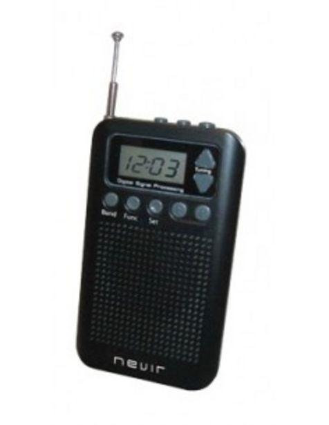 Oferta de Radio Nevir Nvr135d Negra Auriculares Altavoz Integrado Funcion Reloj  Digital por 12€