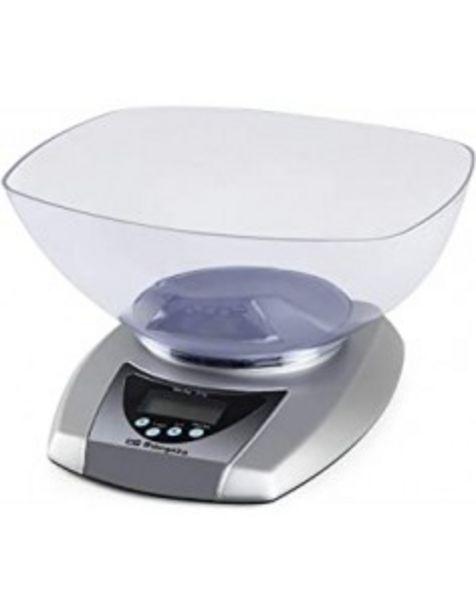 Oferta de Bascula Orbegozo Pc2016 Cocina Electronbol Transparente  5kg por 16€
