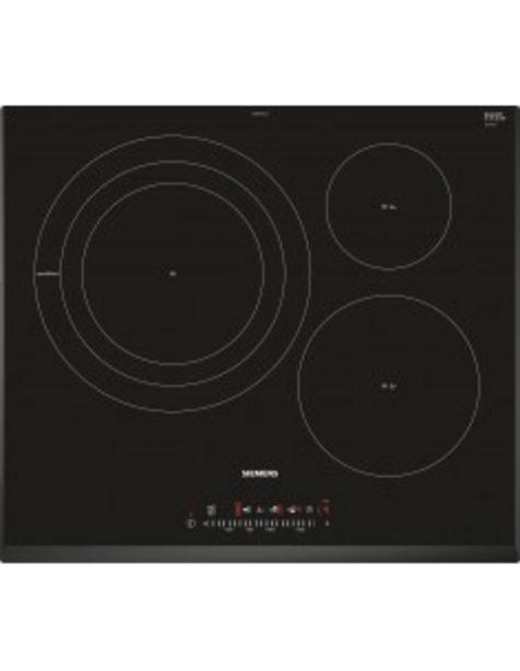 Oferta de Placa Siemens Eh651fdc1e Induccion  Encastrable 60cms 3 Zonas Negro Biselada... por 599€
