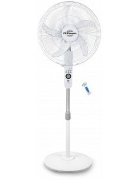 Oferta de Ventilador Orbegozo Sf0247 Pie 55w Aspas 45cms  Mando 17194 por 36€