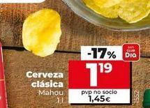 Oferta de Cerveza clásica Mahou por 1,19€