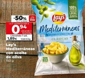 Oferta de Lay's mediterráneas con aceite de oliva  por 1,89€