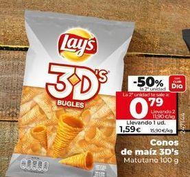 Oferta de Conos de maiz 3D's Lay's por 1,59€