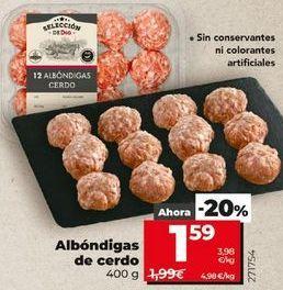 Oferta de Albóndigas de cerdo por 1,59€