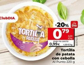 Oferta de Tortillas de patatas con cebolla por 0,79€