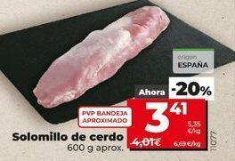 Oferta de Solomillo de cerdo por 3,41€