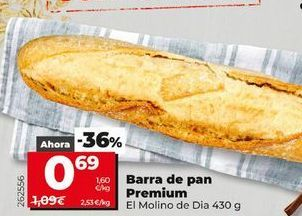 Oferta de Pan de barra premium por 0,69€