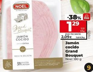Oferta de Jamón cocido Grand Bouquet Noel por 1,29€