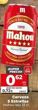 Oferta de Cerveza Mahou por 0,62€