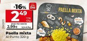 Oferta de Paella mixto Al punto  por 2,49€