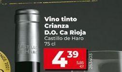 Oferta de Vino tinto reserva Castillo de Haro por 4,39€