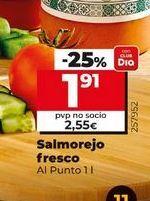 Oferta de Salmorejo fresco Al Punto  por 1,91€
