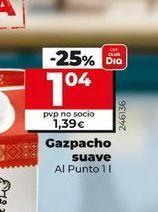Oferta de Gazpacho suave Al Punto por 1,04€