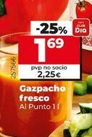 Oferta de Gazpacho fresco Al Punto por 1,69€