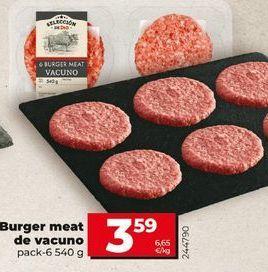 Oferta de Burger meat de vacuno por 3,59€