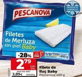 Oferta de Filetes de merluza Pescanova por 2,79€