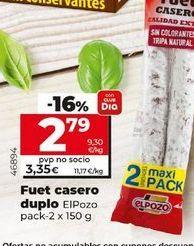 Oferta de Fuet elpozo por 2,79€