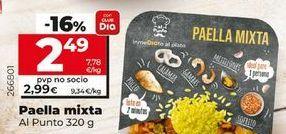 Oferta de Paella mixto Al punto  por 2,99€