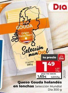 Oferta de Queso gouda holandés en lonchas  por 1,49€