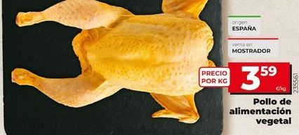 Oferta de Pollo de alimentación vegetal  por 3,59€