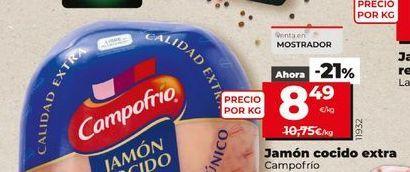 Oferta de Jamón cocido extra Campofrío por 8,49€