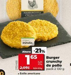 Oferta de Burger cruchy de pollo por 1,65€