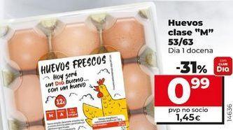 Oferta de Huevos clase M 53/63 por 0,99€
