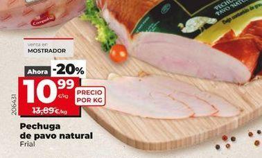 Oferta de Pechuga de pavo natural  Frial por 10,99€