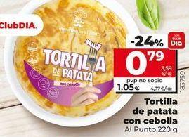 Oferta de Tortilla de patatas con cebolla Al Punto por 0,79€