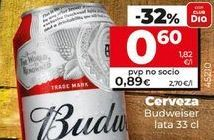 Oferta de Cerveza Budweiser por 0,6€